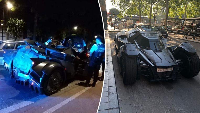 De 'Batmobiel' werd gisteravond tegengehouden door de politie. Vanmorgen werd hij door een lezer gekiekt voor The Hotel.