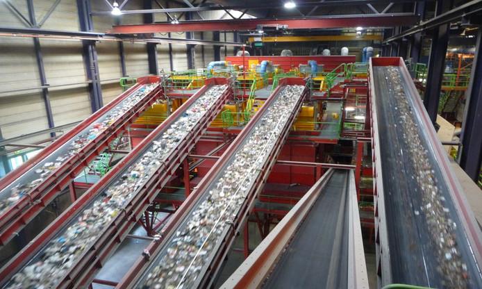 Nascheiding van restafval bij een fabriek van Attero.