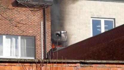 Brandje in crèche in aanbouw