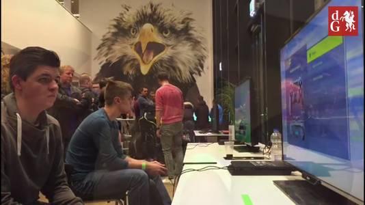 Opperste concentratie tijdens het toernooi.