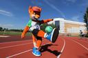 Lesik, de mascotte van de Europese Spelen.