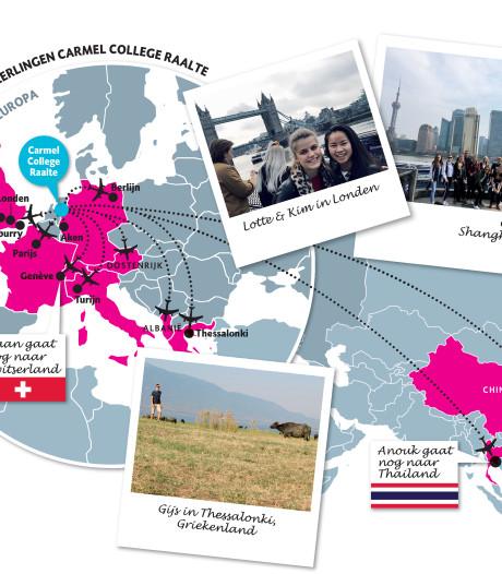 Leerlingen Carmel College in Raalte vliegen hele wereld over en komen terug met koffers vol levenslessen