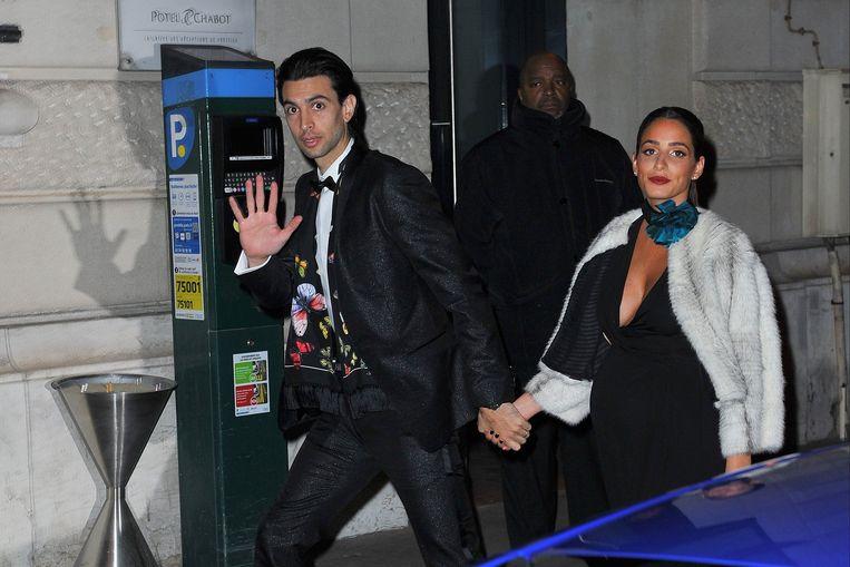 Javier Pastore en zijn vrouw Chiara Picone.