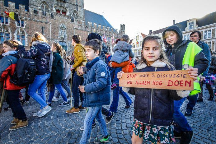 Een beeld dat we de komende tijd niet meer zullen zien in Brugge.