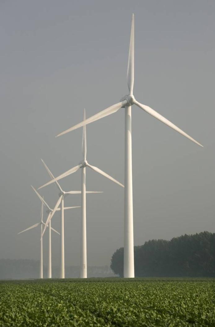 We worden duurzaam met zonneparken en windmolens. foto Ruud Taal