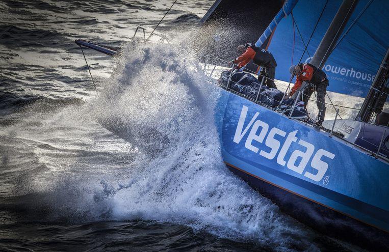 De Vestas-boot in actie. Beeld getty
