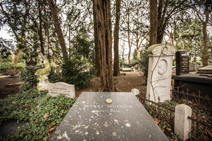 Het graf van Harry Mulisch op begraafplaats Zorgvlied