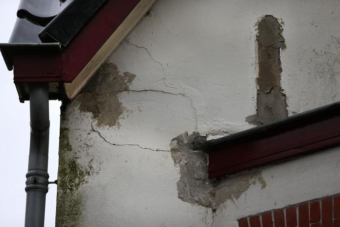 Foto ter illustratie. Schade aan een woning in Slochteren.