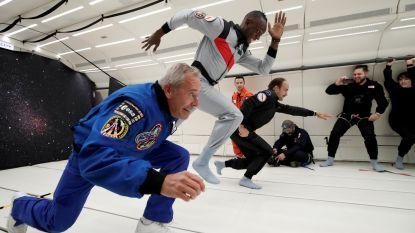 Het moet niet gekker worden: Bolt test speciale 'ruimtechampagne' en tart al sprintend de wetten van de zwaartekracht