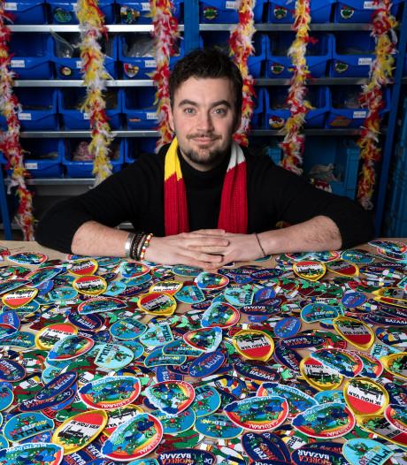 Emblemen, emblemen en nóg eens emblemen: 'Ik gok dat we er deze carnaval meer dan 100.000 verkopen'