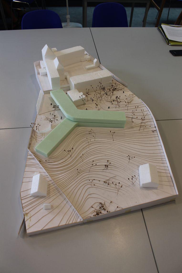 Maquette van de nieuwe campus
