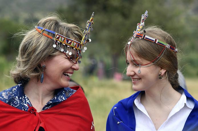 La reine Mathilde et la princesse Elisabeth étaient notamment partie à la rencontre d'une communauté Massaï.