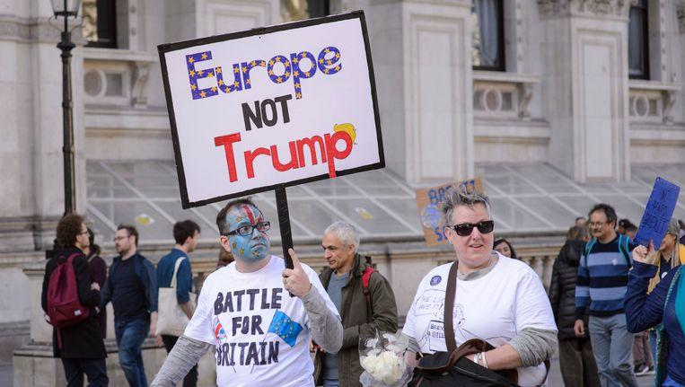 Anti-Brexit-demonstranten in Londen.