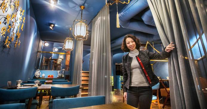 Ting in het totaal venieuwde interieur van Zheng, de opvolger van HanTing Cuisine.