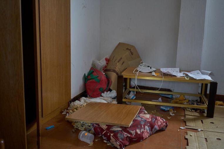 Het huis van de imam uit Ripoll, nadat het doorzocht is door de politie. Beeld Samuel Aranda/de Volkskrant
