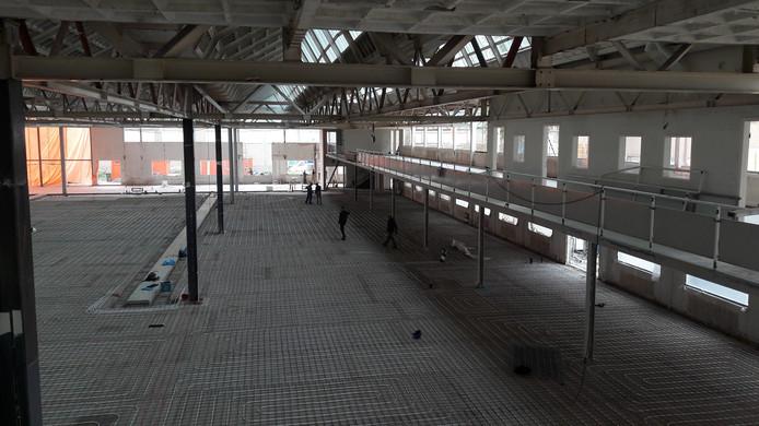 Een van de drie hallen voor industriële productie bij gebouw Strijp-TQ.