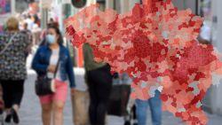 IN KAART. Elke dag dubbel zoveel opnames in Brusselse ziekenhuizen als in andere provincies: bekijk hier de coronasituatie in uw regio