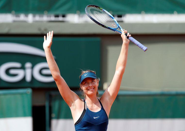 Roland Garros Handdoek.Sharapova Naar Derde Ronde Duitser Gojowczyk Krijgt Boete Na