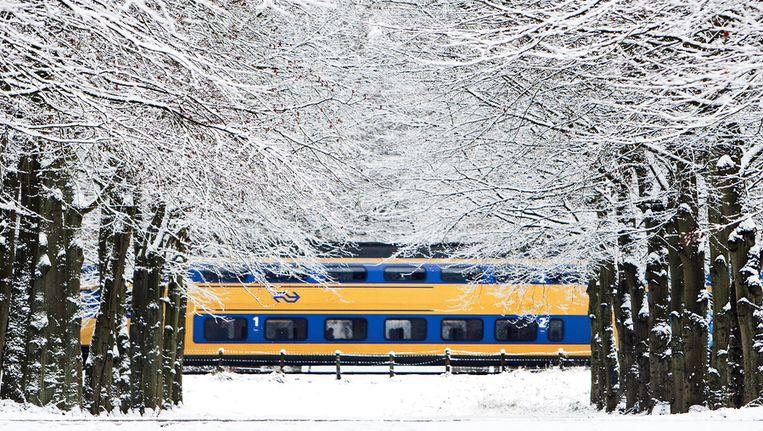 Komende winter wordt de treindienst pas uitgedund bij een kans van 50 procent op strenge vorst. Beeld anp