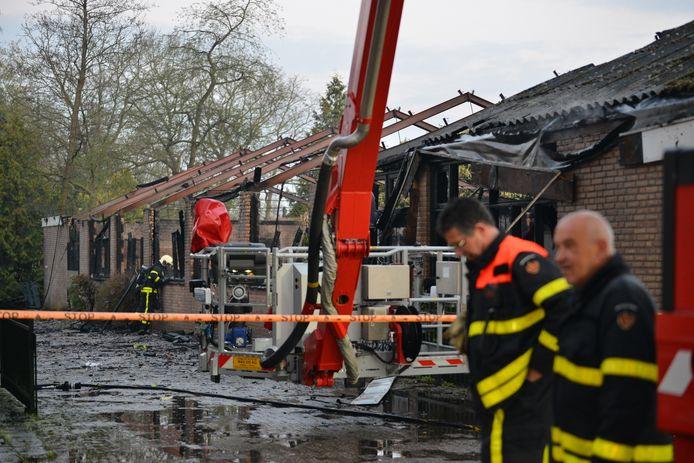 Feestzaal volledig afgebrand in Etten-Leur.