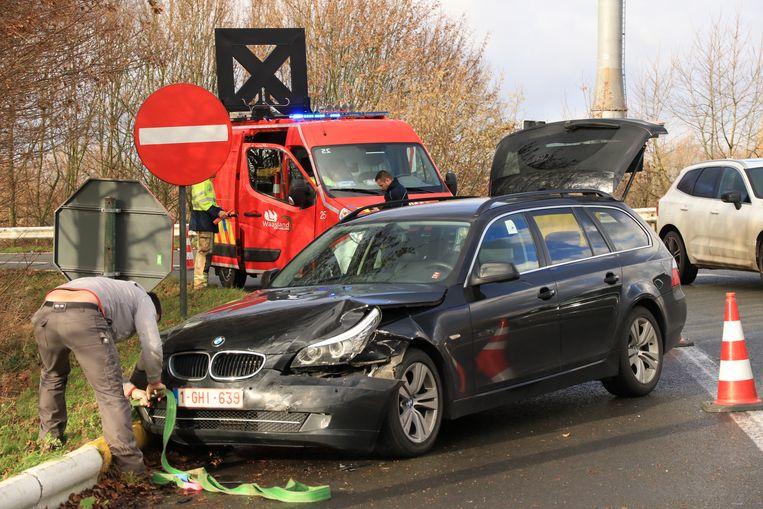 Het ongeval gebeurde op de verkeerswisselaar van de E17 in Bazel/Haasdonk.