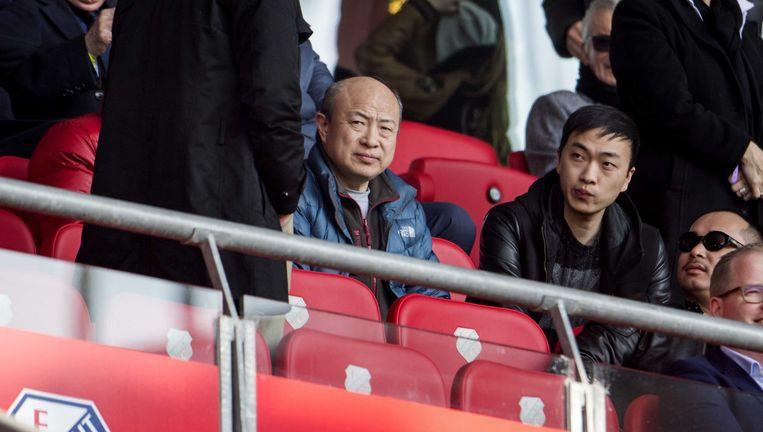 Wang Hui, eigenaar van ADO, tijdens een wedstrijd van club tegen FC Utrecht. Beeld anp