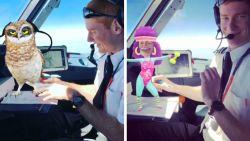 Piloten spelen met virtuele uilen en danseressen in volle vlucht