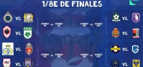 Coupe de Belgique: Bruges-Antwerp possible affiche des 8es de finale