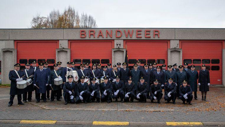 Het brandweerkorps van Kluisbergen viert Sint-Barbara.