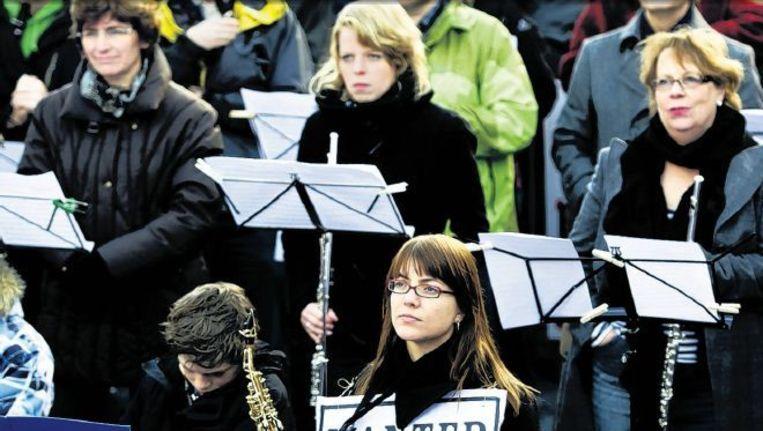 Protestactie tegen de bezuinigingen op kunst en cultuur in Utrecht. Foto: anp Beeld