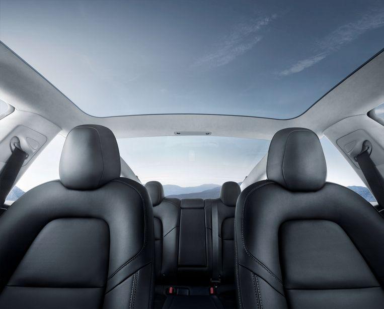 Het glazen dak van de Model 3.