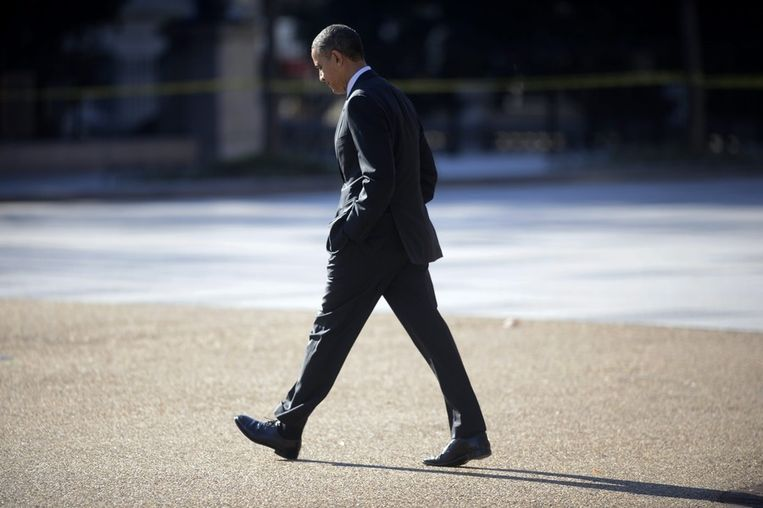 Barack Obama is onderweg naar het Witte Huis. Beeld epa