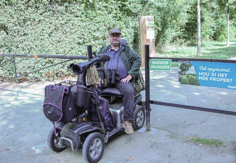 Mario Roelant kan nu makkelijk het bos betreden met zijn -zoals hij het zelf noemt- Benidorm Bastard.