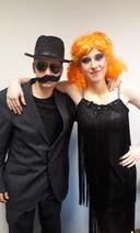 Tom van Dijk als maffiabaas en Pim Klein-Zieverink als showbizzheks Lili.