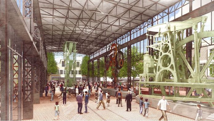 Plannen voor het Marktplein in Hengel. Het hart van de stad krijgt een replica van het Hijschgebouw.