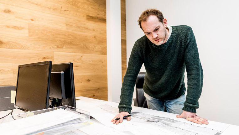 Sander Breur is met zijn bedrijf slachtoffer geworden van identiteitsfraude. Beeld Freek van den Bergh/de Volkskrant