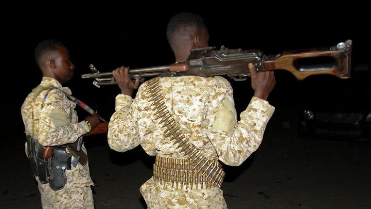 Archiefbeeld van Somalische soldaten.
