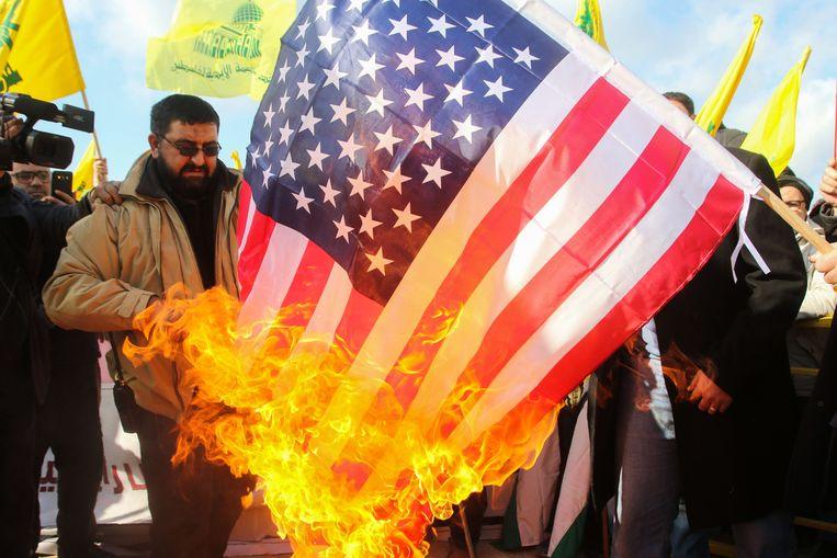 Aanhangers van de sjiitische Libanese militie Hezbollah