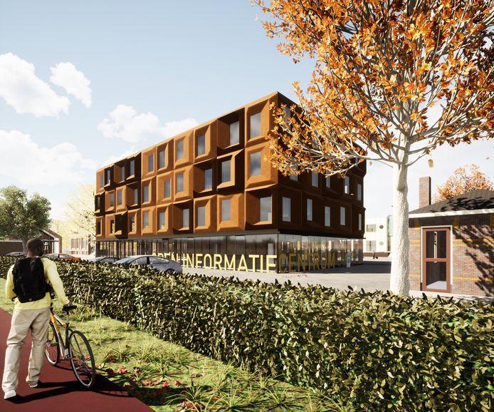Zo gaat het nieuwe gebouw aan de Zutphenseweg eruit zien. De bouw begint volgend jaar.