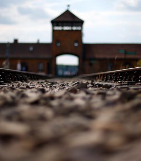 Schandaal in kamp Auschwitz: Israëlische tiener plast op monument