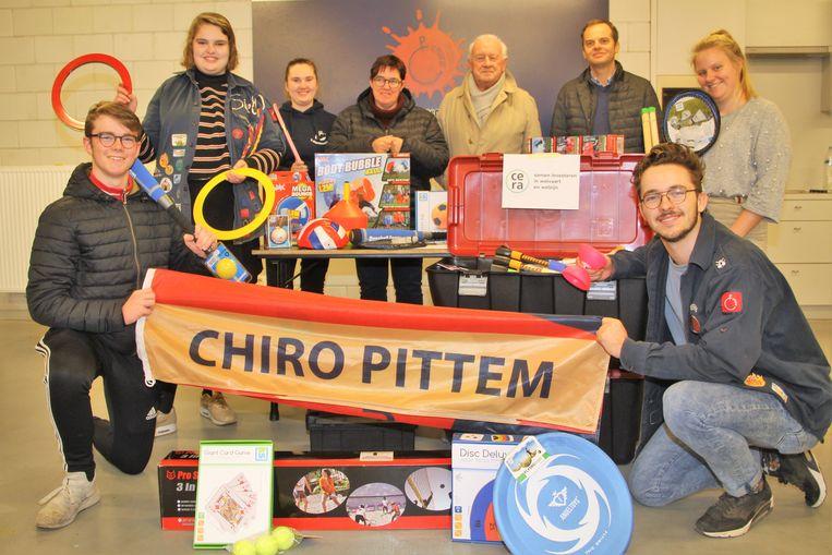 Chiro 't Kartouchke kreeg 1750 euro voor spelmateriaal