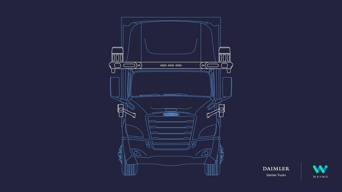 Daimler en Waymo gaan samenwerken bij de ontwikkeling van zelfrijdende vrachtauto's die de komende jaren op de markt moeten komen