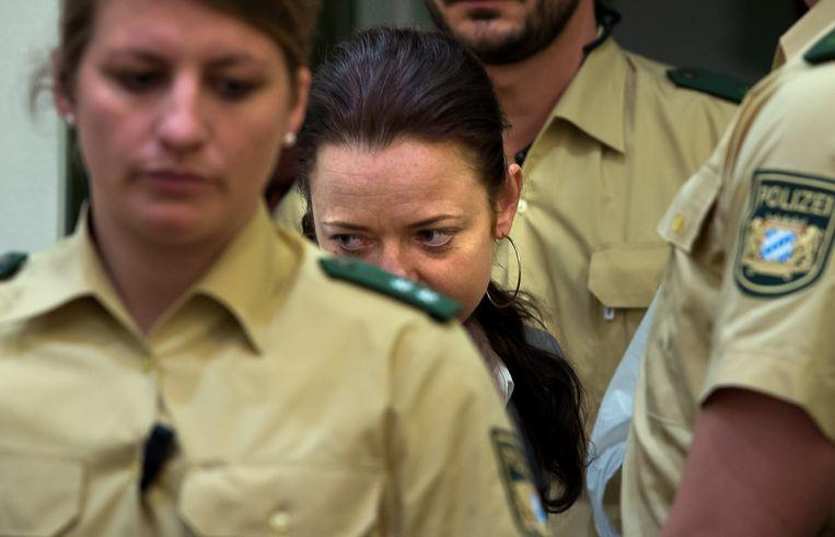 Beate Zschäpe in de rechtbank in 2013. Beeld Getty