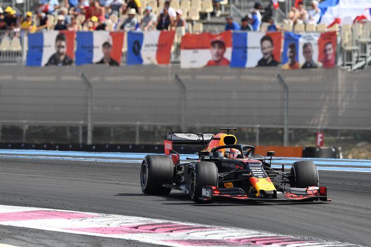 Max Verstappen kwam in de Grand Prix van Frankrijk niet in de buurt van het podium. Beeld AFP