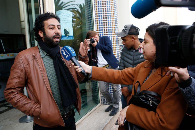Journalist en activist Omar Radi in Casablanca, Morokko.  Beeld AP