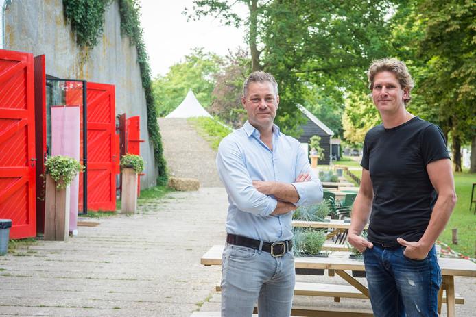 Mark en Martijn van evenementenlocatie Fort de Batterijen aan de Overeindseweg in Nieuwegein.