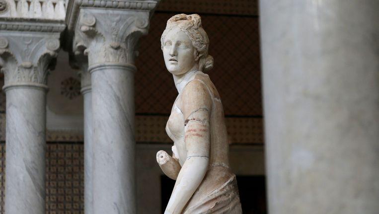 Beeld van een Venus, de godin van de liefde en schoonheid, uit ongeveer 200 na Christus. Het Bardo museum heeft een grote kunstcollectie uit de klassieke oudheid. Beeld epa