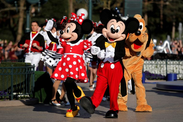 De Disneyfiguren Mickey en Minnie Mouse
