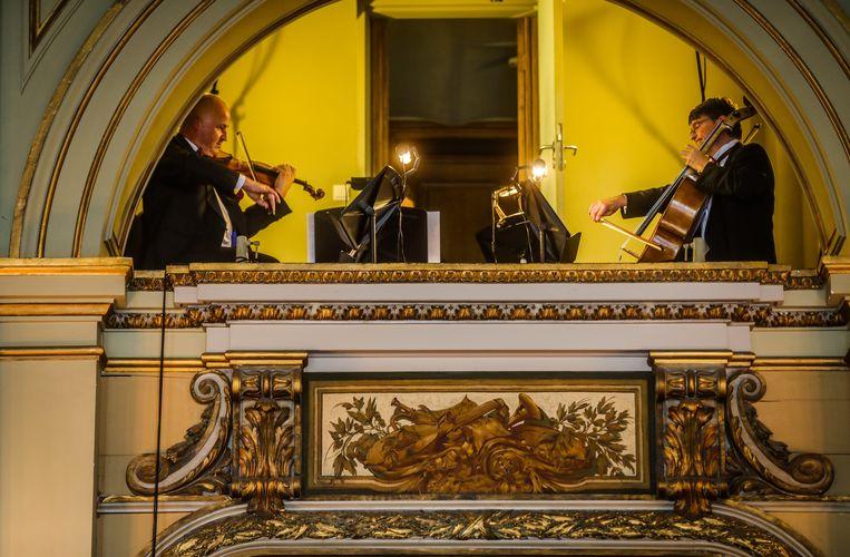Een streepje klassieke muziek mocht niet ontbreken.