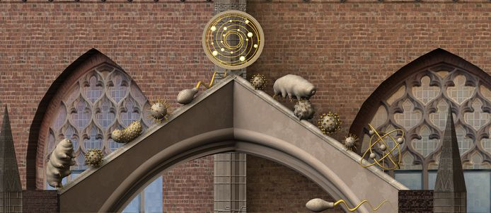 Kunstwerk 'Black hole sun' moet een nieuwe blikvanger bij de Eusebiuskerk in Arnhem worden.